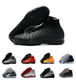 2019 sapatos de futebol Novo 2019 Alta Tornozelo Botas de Futebol TF Hypervenom III Fantasma DF ACC Sapatos De Futebol EA Esportes Hypervenom Indoor IC Relva de Futebol Chuteiras Meias sapatos de futebol barato