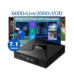 Caja de televisión para adultos online-Set de TV Set de TV para Android TX9 pro 4K 4G / 32G Con Italia Mundo Iptv Italia Reino Unido Suecia EE. UU. Canadá Holandés Adulto 6200 Vidas abbonamento caja iptv