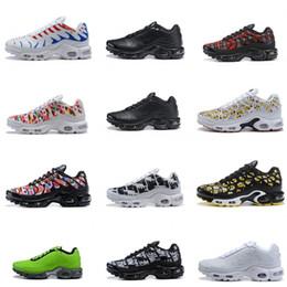 Banderas amarillas online-2019 Mercurial Tn Plus SE 2 Copa del mundo Bandera internacional Francia Zapatillas para correr Tns Hombres Mujeres NIC QS Air Sports Sneakers Chaussures