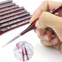 miniature Sconti 2019 nuovo 9 pezzi Pennello miniatura dettaglio Fineliner Nail art pennelli da disegno Lupo mezzo pennelli per la pittura acrilica Forniture