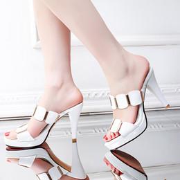 chaussures d'été élégantes sexy Promotion pantoufles femmes en cuir verni mode sexy élégantes chaussures pour femmes talons hauts plateforme confortable chaussures d'été robe