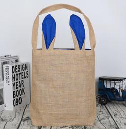 Sacs de Pâques à la mode Design Oreille de lapin Panier et sac Jute Tissu Matériel Fourre-tout Partie Sac Décorations De Pâques LJJK1180 ? partir de fabricateur