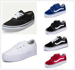 ee2d53137 2019 zapatos de lona infantiles blancos Vans Old Skool classics calidad  para niños clásico infantil skool