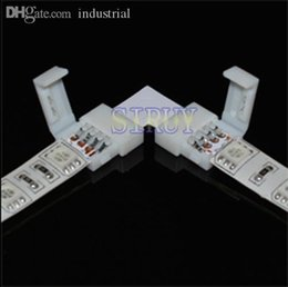 """5050/5730 RGB LED Strip için Toptan-5sets / lot LED RGB şerit PCB kartı konektörü 10mm 4pin """"L"""" tipi konnektör nereden elektrik bağlantı kutuları tedarikçiler"""