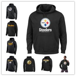 2019 forro de hombre 2019 Hombres Pittsburgh Sudadera Steelers Sideline Circuit Red Practice Performance Printing Pro Line Colección Black Gold Sudaderas forro de hombre baratos