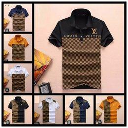 Camiseta polo xl online-2019 Nuevos Hombres Diseñadores Camisas de Polo para hombre Tops Camiseta para hombre Ropa de lujo Camisa bordada de marca para hombres Ropa Tamaño con M-3XL Streetwear