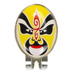 clip zeichen Rabatt Super verkaufen-Magnetic Hut abnehmbare Metall Opera Maske Golfclip Dies ist ein interessantes Zeichen Set gelb