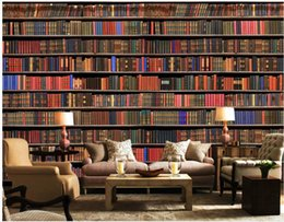 2019 estante de sala de estar 3d bookshelf bookcase background wall papel de parede moderno para sala de estar estante de sala de estar barato
