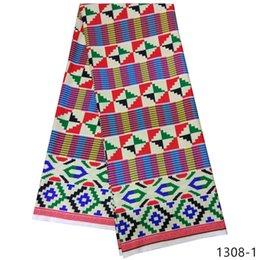 tessuti di stampa della cera all'ingrosso Sconti tessuto africano 100% cotone rasatello africano tessuto 2019 più economico all'ingrosso di alta qualità cera ankara stampa 1308