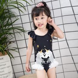 2019 traje de baño de una pieza con volantes Trajes de baño Unicornio para niñas bebés Traje de baño de una pieza Traje de baño de niñas Conjunto de trajes de baño 2019 Princesa infantil Niños Cuerno de unicornio Ropa de playa traje de baño de una pieza con volantes baratos
