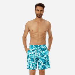 Banhos curtos on-line-Vilebrequin Mens Praia Shorts polvo Francês marca 001 starfish Tartaruga impressão Bermudas Swimwear masculino Calções De Banho de secagem Rápida