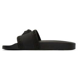 Versace YENI Lüks Tasarımcı Terlik medusa Slayt pvc Dişli Dipleri Mens Womens Yaz Plaj Sandalet Siyah Beyaz Mavi Lacivert kaymaz Terlik ... cheap navy sandals nereden lacivert sandaletler tedarikçiler