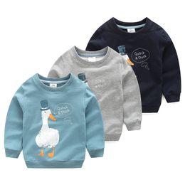 2018 Spring Autumn Korea Style 2 10 Years Old ChildrenS Birthday Gift Long Sleeve Cartoon Animal Print Kids Baby Boy Sweatshirt
