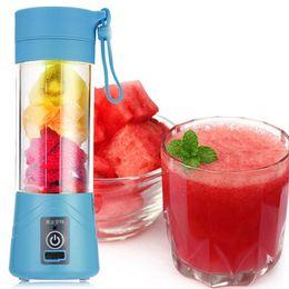 flaschenklingen Rabatt 380 ml 4/6 Klingen Mini USB wiederaufladbare tragbare elektrische Fruchtpresse Smoothie Maker Mixer Maschine Sport Flasche Entsaften Tasse