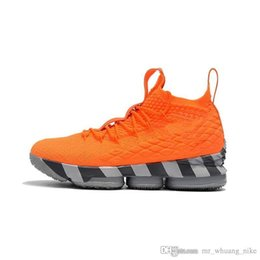hot sale online 7db2a b7499 Cheap mens lebron 15 basketball shoes Kith fruity pebbles White Black Gold  sneakers with box for sale size 7 12