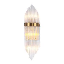 Светильники настенные для гостиной онлайн-Современный свет роскошный настенный светильник гостиная настенный светильник простой американский металлический хрустальный светильник отель спальня прикроватный светильник