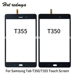 2019 зеркало для замены галактики samsung Сенсорный экран Digitizer панель для Samsung Galaxy Tab 8,0 SM- T350 T355 Сенсорная панель датчика стекла Запасные части Черный Белый цвет