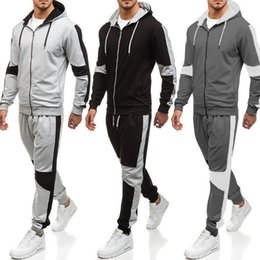 cool sportswear clothing Coupons - Warm Autumn Winter Cool Mens Casual Sportswear Mens Sets Hooded Sweatshirt Elastic Waist Pants Sweatpants Clothing Sets