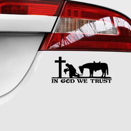18 * 7.9 cm Kovboy Dua Çapraz Rilitüel Kilise Kalıp Kesim Vinil Pencere Çıkartması sticker Araba Kamyon Dizüstü nereden