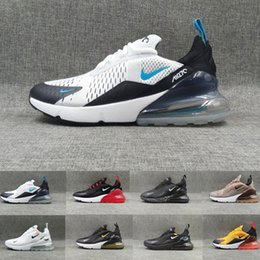 2019 nouvelle photo chaude Nike air max 270 270s 27c airmax 2019 NOUVEAU Parra Hot Punch Photo Bleu Hommes Femmes Chaussures De Course Triple Université Blanche Rouge Olive Volt Habanero Flair air Sneakers nouvelle photo chaude pas cher