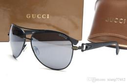 Gafas de sol sin montura Vintage Metal Retro Moda de lujo de gran tamaño Gafas de sol Cuadrado Azul Rojo Lente transparente Gafas de sol de diseñador desde fabricantes