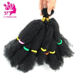 2020 trenzas de ganchillo afro rizado El sueño de hielo 2X Afro rizado bulto del pelo sintético extensiones de cabello trenzado del ganchillo Torsión 1B 100g / pack rebajas trenzas de ganchillo afro rizado