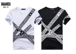 2019 schaukeln Männer T-shirt Mode Brief Drucken Baumwolle Oansatz Kurzen Ärmeln T-Shirt Marke Sommer Männliche Casual Männer Design Hip Hop Rock Tops Tees # 5087 rabatt schaukeln