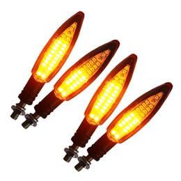 2019 реле освещения 4Pcs Motorcycle Turn Signal Light E24 Built-In Relay Flowing Water Flashing 24Led Flash Bendable Tail дешево реле освещения