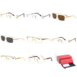 2e9f18fd6ef popular men eyeglasses frames 2019 - Optical Frame Square Sunglasses  Buffalo Horn Gold Metal Most Popular