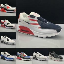 big sale c5938 3ddfc 2019 zapatos baratos de gamuza mujeres nike air max 90 Nuevo 90 Calzado  Deportivo Clásico Hombres