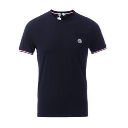 2019 NOUVEAUTÉ 100% coton Hommes T-shirts À Manches Courtes Col Rond Marque LOGO Coton Brodé Tees Pour Hommes Casual Garçon T-shirt Tops Livraison gratuite ? partir de fabricateur