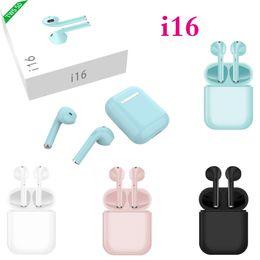 chinese bluetooth kopfhörer Rabatt I16 Tws Drahtlose Kopfhörer Bluetooth 5.0 1: 1 Ai Mini Drahtlose Bluetooth 3d Bass Ohrringe VE I10 I12 I13 I14 I15 I18 Tws