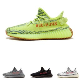 on sale a5b95 8650d Adidas supreme yeezy 350 boost v2 designer shoes 2018 nuevo color aceite de sésamo  amarillo hielo 36-46 350 v2 zapatos de diseñador Sply negro rojo 350 ...