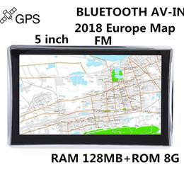 navegação por gps Desconto Wetowe G5 5 polegada de Navegação GPS Do Carro WinCE 6.0 FM Bluetooth AV-IN Invertendo Câmera Touch Screen 2018 UE Mapa Livre