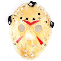 2019 máscara do hóquei do horror de jason Máscara de Jason Voorhees Vintage Freddy Hockey Masquerade Halloween Party Festival engraçado Prop máscaras de horror Partido Cosplay Natal desconto máscara do hóquei do horror de jason