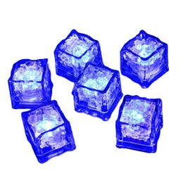 LED Ice Cube Multi Couleur Changeante Flash Night Lights Lumières Liquide Capteur Eau Submersible Pour Le Mariage De Noël Club Party Décoration Lampe ? partir de fabricateur