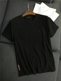 Chalecos de manga corta de los hombres online-19ss Nueva Llegada PRAD Hombres Amantes de París Camisetas de Algodón de Impresión de Manga Corta Camiseta de Verano Chaleco Transpirable Camiseta Al Aire Libre