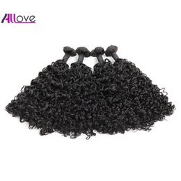 new machine curls hair Coupons - 100A Double Drawn New Curly Hair Extensions Indian Human Hair Bundles Funmi Hair 3 4Bundles Natural Curl Brazilian Peruvian Malaysian
