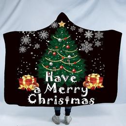 Deutschland Weihnachten Winter Tragbare Mit Kapuze Decke Für Kinder Erwachsene Warme Dekoration Weiches Bett Zu Hause Werfen Sofa Decken A03 Versorgung