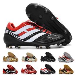 sports shoes 5535c 510d5 Predator Mania ACE 17+ Calzado de fútbol para hombre Mujer Purecontrol  Champagne FG Botas de fútbol Botas de fútbol Botas con base blanca Zapatos