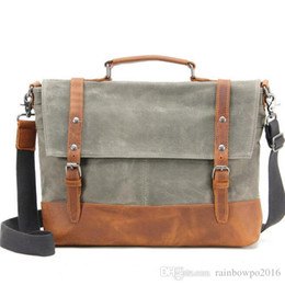 35cdf7722adf factory sales new waxed waterproof canvas shoulder bag retro