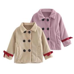 01b0fec1c Chaquetas de bebé Ropa 2018 Abrigos de Lana Largos Cortavientos Princesa  Niños Capa Botón Outwear para Niñas Abrigo Ropa Ropa de abrigo