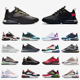 Fallschirmsport online-Nike air max 270 react airmax  Stock X 270 React Just do it Mens Running Shoes Safari Camo CNY Parachute Hot Punch Triple Black White Men women Sports Trainers designer Sneakers