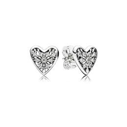 pandora winter Rabatt Damen Luxus Mode CZ Diamant Herz Ohrringe Original  Box für Pandora 925 Sterling adb26ceac3