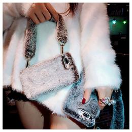Luxe De Mode Femmes Sac À Main Design Diamant Hiver Chaud Couverture De Fourrure De Fourrure De Lapin Avec La Chaîne De La Main Pour iPhone XS Max XR X 8 7 6 6S Plus ? partir de fabricateur