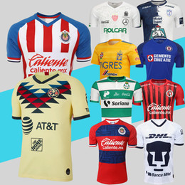Dhl fußball trikots online-Klub Amerika Chivas Cruz Azul UNAM Pachuca Xolos de Tijuana Tigres UANL Necaxa Laguna Fußball Jersey 19 20 Liga MX 10pcs geben DHL frei