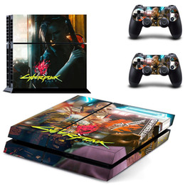 Decalques de playstation para o console do controlador on-line-GTA V vinil Adesivo Skin Para Sony PS4 consola com 2 controladores de decalque para Playstation 4 Gamepad CONTROLE