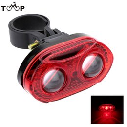 Mundo mp3 online-of the world mp3 3 LEDs 3 modos Bike Tail Lamp LED Cycling Bicycle Tailight Bike manillar Back Luz trasera