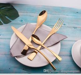 2019 set da pranzo nero DLM2020 Black Rose Dinnerware Set inossidabile di alta qualità cena coltello e forchetta e zuppa di caffè cucchiaino cucchiaio Posate 150 Set H122 set da pranzo nero economici