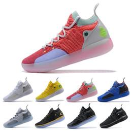 Sapatas da estrela de kevin durante on-line-KD 11 EP elite tênis de basquete KD 11s homens Multicolor pêssego Jam Mens Doernbecher formadores Kevin Durant 10 EYBL All-Star BHM Sneakers